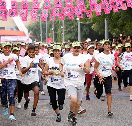 Over 10,000 women run for fitness at Colors Delhi Pinkathon's fifth edition