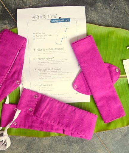 Why used sanitary pads are being collected in India?