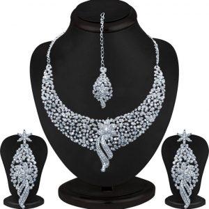 Sukkhi Zinc Jewel Set (White)