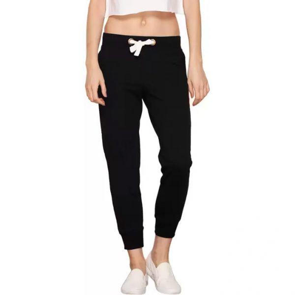Bewakoof Solid Women's Black Track Pants