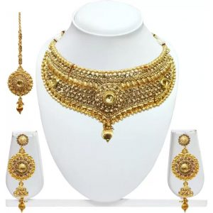 Chetan Arts Jewellery Zinc Jewel Set  (Gold)