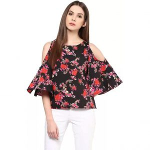 Harpa Casual 3/4th Sleeve Floral Print