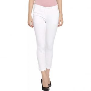 Honey By Pantaloons Slim Fit Women's White Trousers