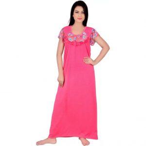 Kanika Women's Nighty  (Pink)