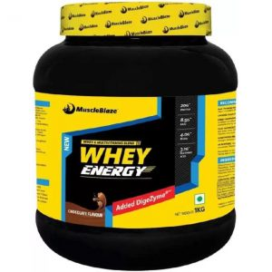 MuscleBlaze Whey Energy with Digezyme Whey Protein  (1 kg, Chocolate)