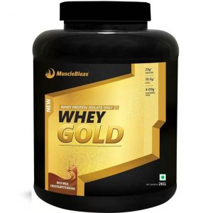 MuscleBlaze Whey Gold Whey Protein  (2 kg, Rich Milk Chocolate)