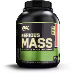 Optimum Nutrition Serious Mass Weight Gainers  (2.72 kg, Strawberry)