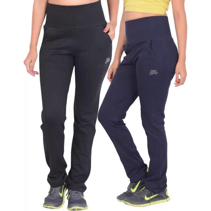 Sweekash Solid Women's Black, Blue Track Pants - Women ...