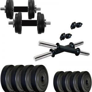 KRX KRX-PVC-DM-20KG-COMBO16 Adjustable Dumbbell  (22 kg)