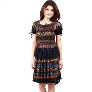 Crease & Clips Women's A-line Multicolor Dress