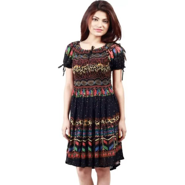 A-line Multicolor Dress