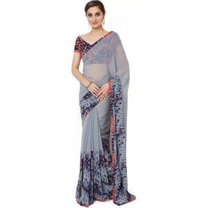 2bc3e700be064d Trendz Style Striped Fashion Tussar Silk, Cotton Linen Blend Saree ...