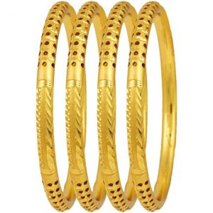 Jewels Galaxy Alloy Bangle  (Pack of 4)