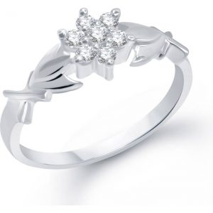 VK Jewels Prestige Alloy Cubic Zirconia Rhodium Plated Ring