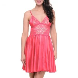 Klamotten Women's Nighty  (Pink)