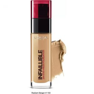 L'Oreal Paris Infaillible 24H Liquid Foundation  (Radiant Beige 150, 30 ml)