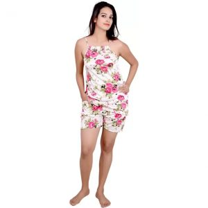 Kanika Women's Printed Multicolor Top & Shorts Set