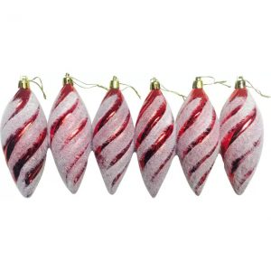 Priyankish Christmas Tree Red Colored Priyankish Christmas Tree Red Colored Hanging Ornaments  (Pack of 6)  (Pack of 6)