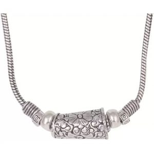 Sansar India Silver Plated Metal Necklace