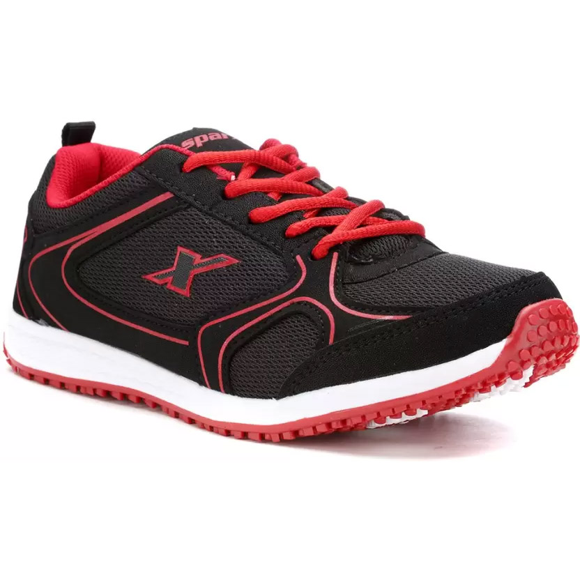 Sparx Stylish Black Amp Red Running Shoes Black Red
