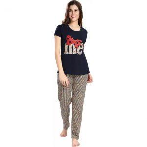 AV2 Women Printed Multicolor Top & Pyjama Set