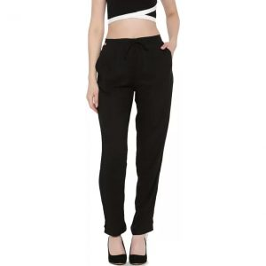 Shree Regular Fit Women's Black Trousers