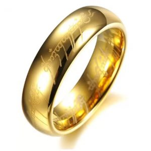 Yellow Chimes LOTR Stainless Steel Rhodium Plated Ring