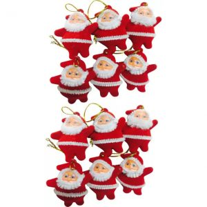 NxtGen 12 MINI SANTA CLAUSE FOR DECORATION Hanging Ornaments  (Pack of 12)