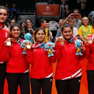 India script history, win first gold in women's table tennis