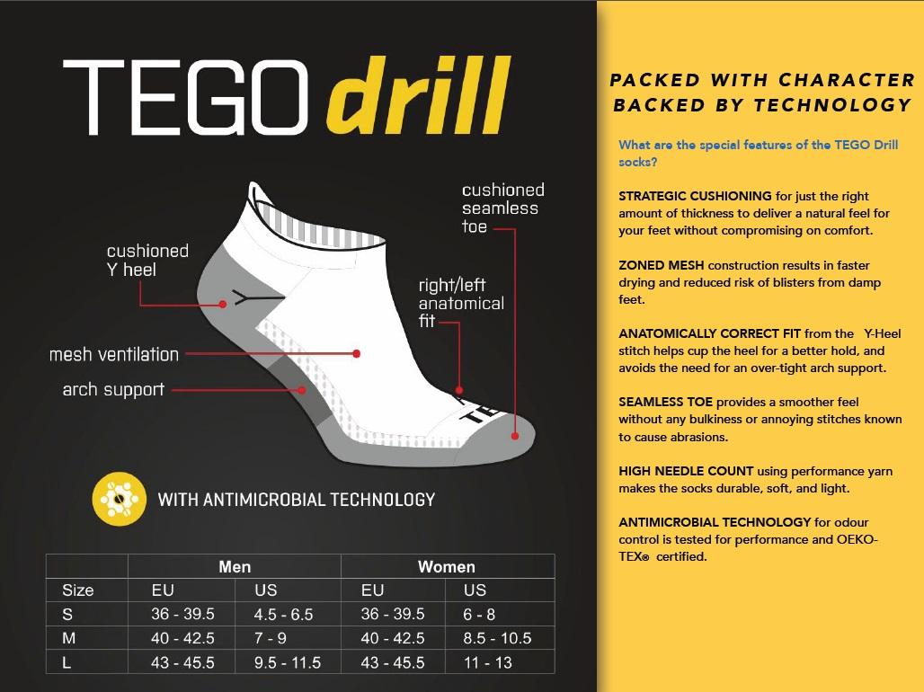 TEGO Drill socks