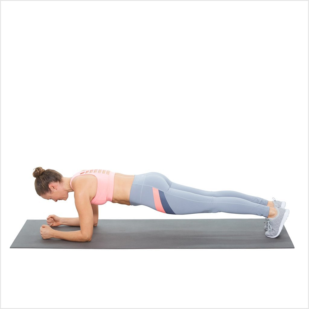Elbow plank or dolphin pose