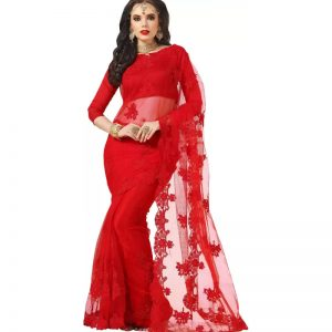 Darshita International Embroidered Bollywood Net Saree