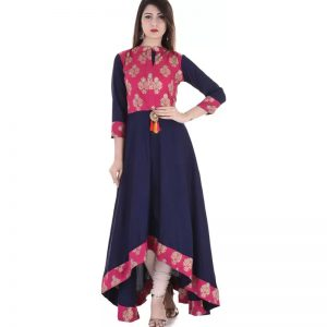 Stylum Festive & Party Printed Women Kurti  (Pink)