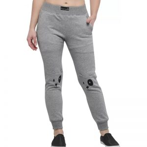 Yuvraah Geometric Print Women's Grey Track Pants