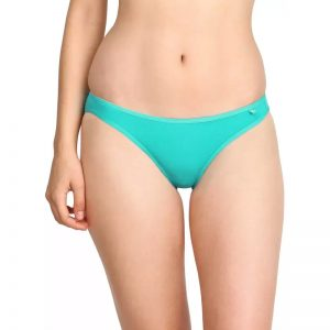 Jockey Women's Bikini Blue Panty  (Pack of 1)