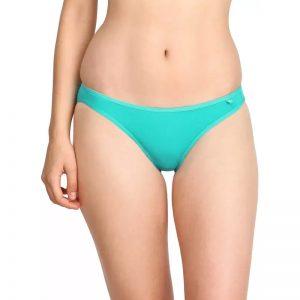 Jockey Women's Bikini Blue Panty  (Pack of 1)