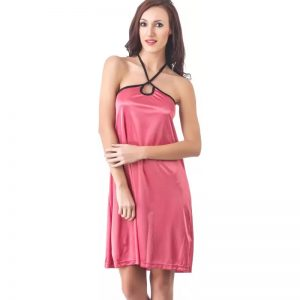 Fasense Women's Nighty  (Pink)