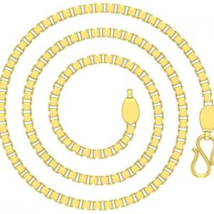 Avsar Box Rope Chain Yellow Gold Precious Chain  (18kt)