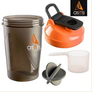 AS-IT-IS Nutrition Protein Shaker Bottle with Scoop