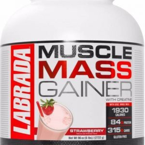 Labrada Muscle Weight Gainers/Mass Gainers  (2722 g, Strawberry)