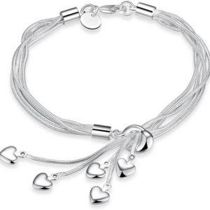 Alloy Rhodium Charm Bracelet