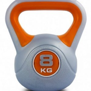 Kobo Fitness 8 Kg High Quality Imported for Gym Grey, Orange Kettlebell