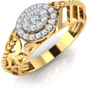 IskiUski Favorite  Gold Ring 18kt Swarovski Crystal Yellow Gold ring