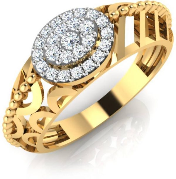 IskiUski Favorite Gold Ring 18kt Swarovski