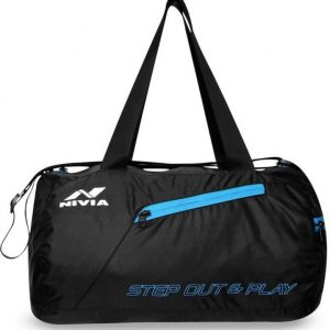 Nivia Deflate Round -01 Gym::Fitness  (Black, Kit Bag)