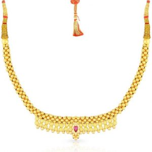 Malabar Gold and Diamonds NNKTH013 Collar Yellow Gold Precious Necklace  (22kt)