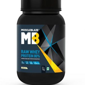 MuscleBlaze Raw Whey Protein  (1 kg, Unflavored)