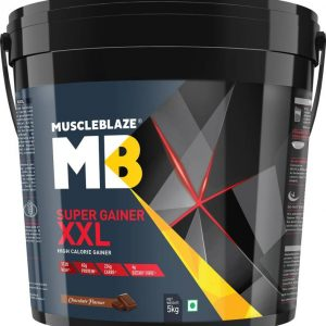 MuscleBlaze Super Gainer xxl (Chocolate, 5 Kg/ 11 lb) Weight Gainers/Mass Gainers  (5 kg, Chocolate)