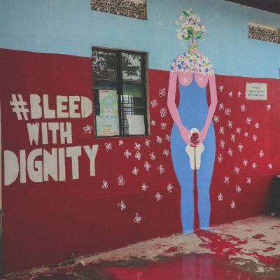 Mural Installed On Menstrual Hygiene Day